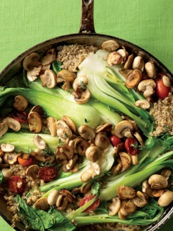 veganfoody:  Bok Choy Skillet Supper   Holy shit.