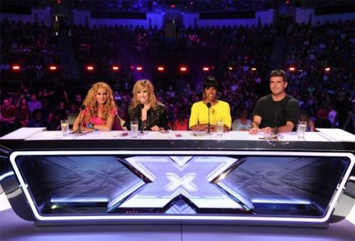 jasonm992:  Paulina Rubio, Demi Lovato, Kelly Rowland & Simons   The Xfactor USA  i like.