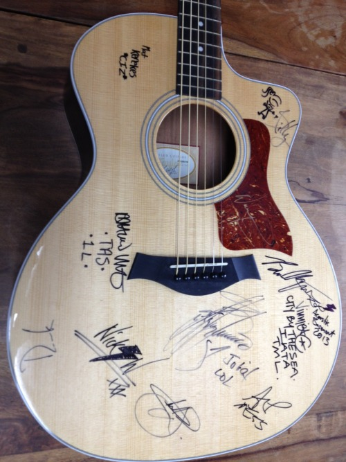 The Unite the United Foundation's annual holiday charity auction is now LIVE and includes a beautiful Taylor acoustic guitar signed AND used by many of the performers on the 2013 Acoustic Basement Stage at the Vans Warped Tour including: Juliet Simms (The Voice), William Beckett (The Academy Is…), Ace Enders (The Early November), Vinnie Caruana (The Movielife, I Am the Avalanche), Derek Archambault (Alcoa, Defeater), Matt Vincent (The American Scene), Mat Kerekes (Citizen), Billy the Kid, Charlie Simpson, Nick Worpole (Charlie Simpson), and Brian Marquis (Stage Producer/Performer). All of the proceeds of this auction go to Musicares. Bid here: http://www.ebay.com/itm/JULIET-SIMMS-WILLIAM-BECKETT-Taylor-Acoustic-Warped-Tour-Guitar-Signed-The-Voice-/200990941325?pt=Guitar&hash=item2ecbfe608d