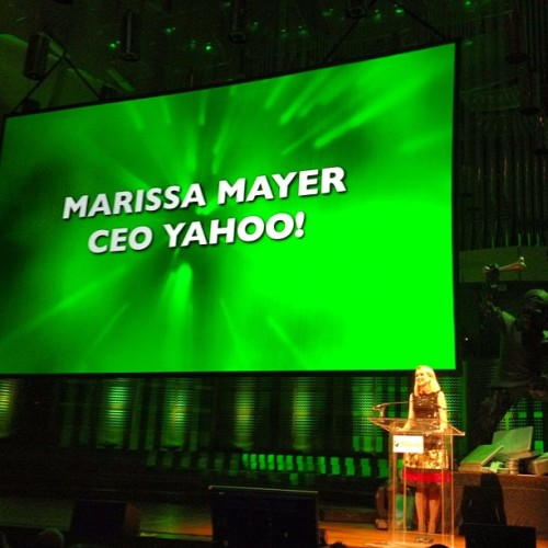 Marissa Mayer on stage at the #Crunchies. Make sure you're tuning in! (at The 2012 Crunchies Awards Show)