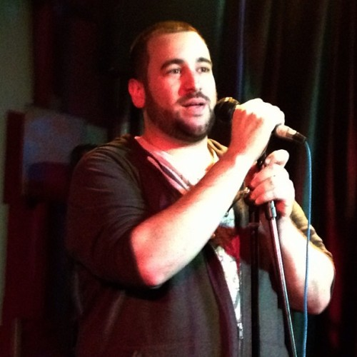 James Merenda hosting louderARTS finals (NYC)