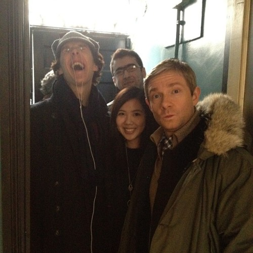 ohmysaintedpyjamas:  Gosh what a derpy dork :) Martin must be rubbing off on him. (ooer!) [source]