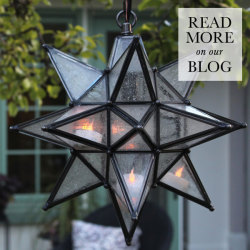 See How the Olivia Star Pendant Lights Up This Garden
