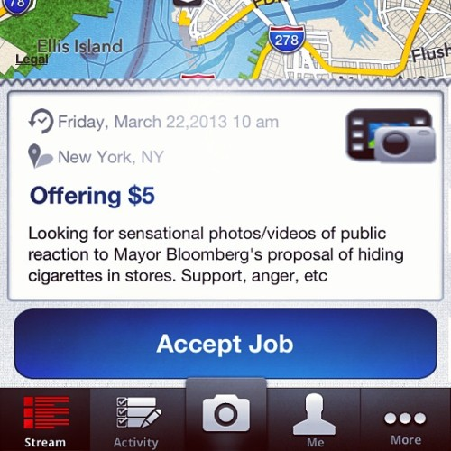 @bloomberg @nycmayorsoffice proposes #hiding #cigarettes in stores in #nyc #newyork we want the publics reaction to @elbloombito Hey! #Download the #app @rawporter in the #ios market! After you've created your account, start #uploading #videos #audio and #photos into the #media stream! Your #pictures of #athletes #sports #celebrities the #weather and #hyperlocal #news will make you #money! Www.Rawporter.com (at Bloomberg, NYC)