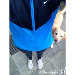 I went for a run with my dog🐶💛 you cant tell from this picture but it was raining so much :( #run #dog #fitspo #personal