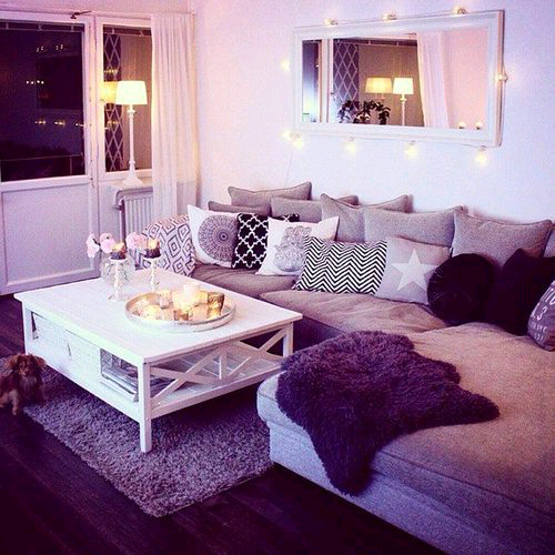 purple living room decorating ideas tumblr. Black Bedroom Furniture Sets. Home Design Ideas