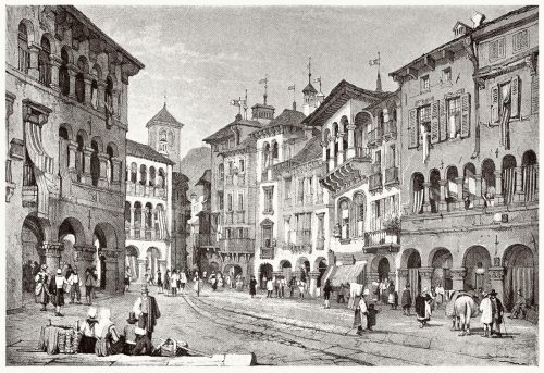 Domodossola.  Samuel Prout, from Sketches by Samuel Prout, by Charles Holme, London, 1915.  (Source: archive.org)