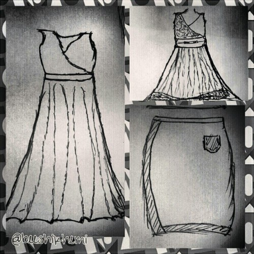 #bored  #rough #sketches #basic #designs #dresses #skirt #blackandwhite #collage