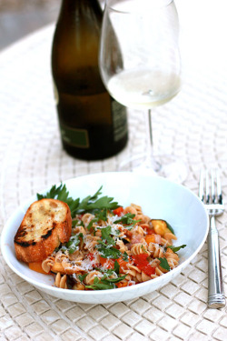 in-my-mouth:  Grilled Ratatouille with Rotini