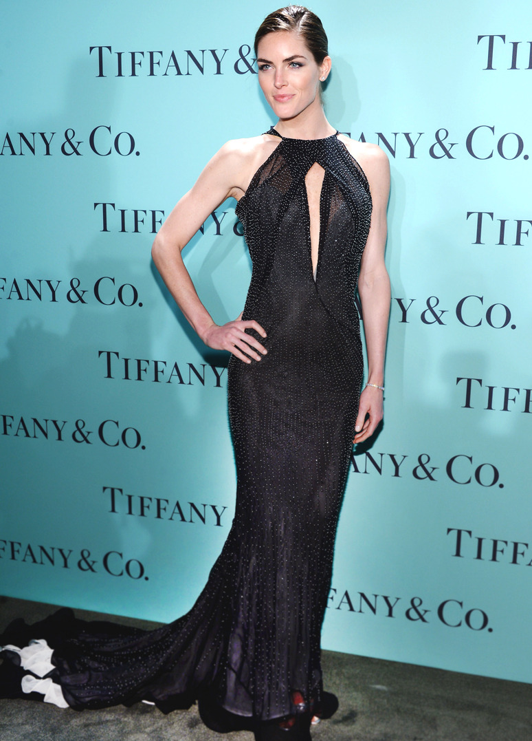 HILARY RHODA  Model Hilary Rhoda wore Donna Karan Atelier to the Tiffany & Co. Blue Book Ball at Rockefeller Center in New York City on April 18, 2013. (Getty Images)