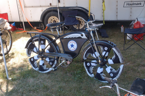 Converse All-Star Powered Bicycle by pjchmiel on Flickr.Too cool!