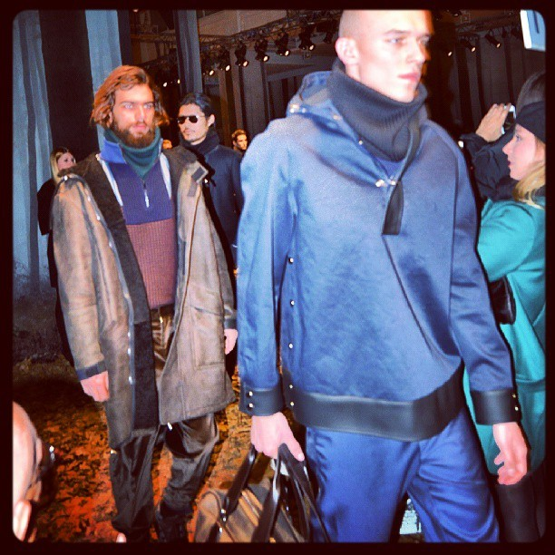 @trussardinews #fw13 #mens collection #mfw #throwback #menswear #milano #fashionmodels @adamkaszewski