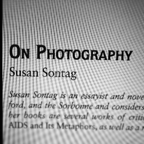 Just read On Photography, and just to reinforce Sontag's notion of the omnipresent camera I thought I'd take a picture