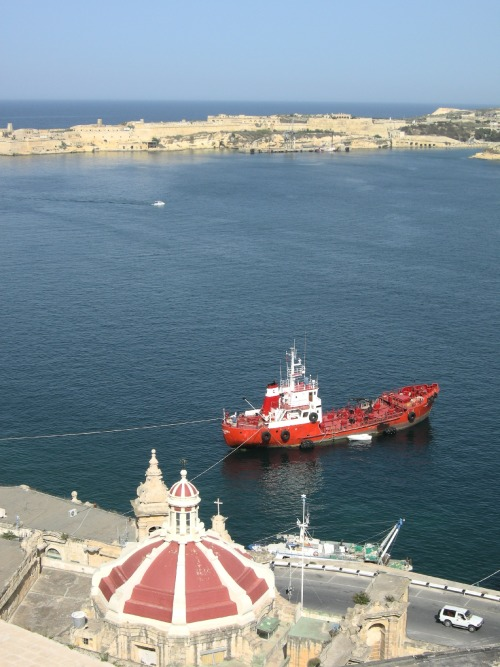 The view from the walls of Valletta, Malta.