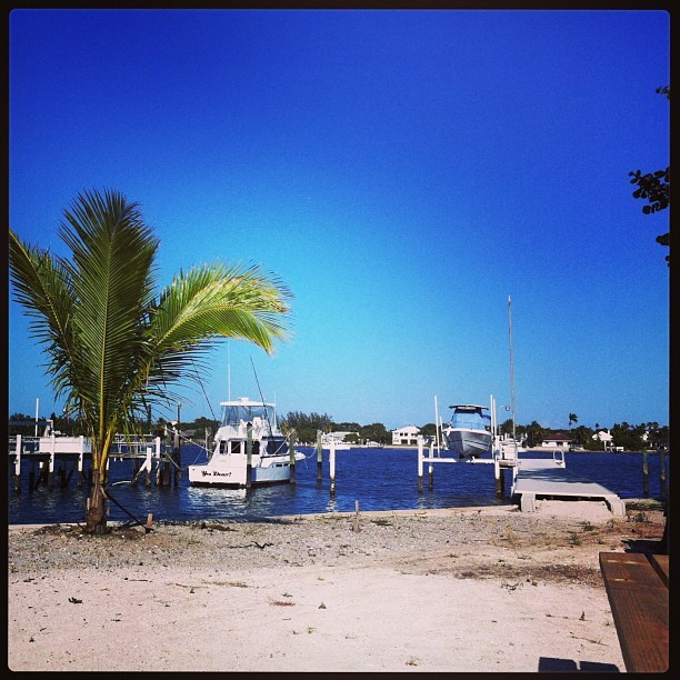 My view #lantana #intercoastal #backyard #boat #yesdear #southfla #64degrees #cold