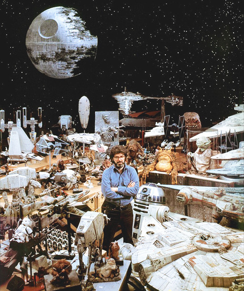 George Lucas on the set of Star Wars: Episode VI - The Return of the Jedi (1983)
