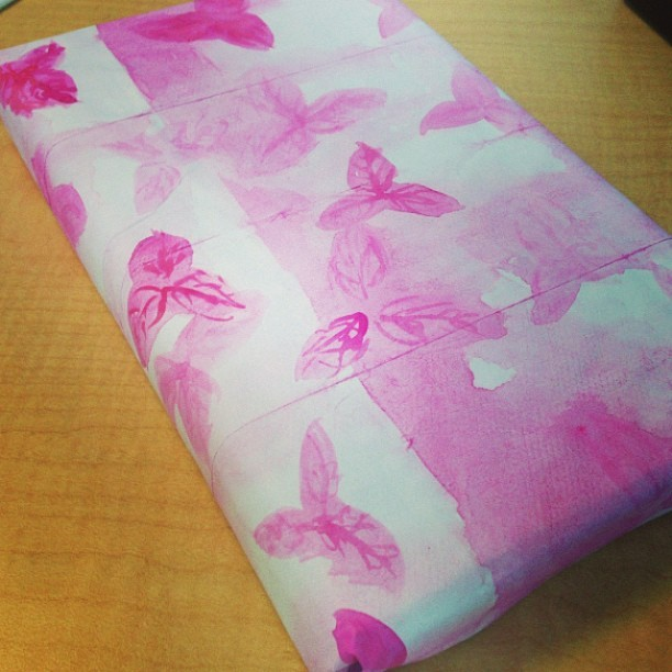 Belated Mother's Day present. Painted some custom wrapping paper.