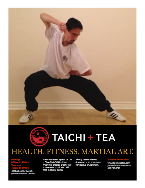 New Chen Taiji Monday evening class starts January 14th!