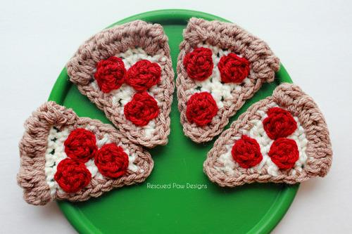 Crochet Pizza Slice