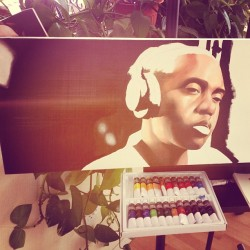 Couple more hours in. #nas #art #oilpainting #painting #workinprogress #wip #hiphop