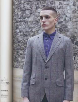 lydiagarnett:  Menswear shoot for Drapers Magazine