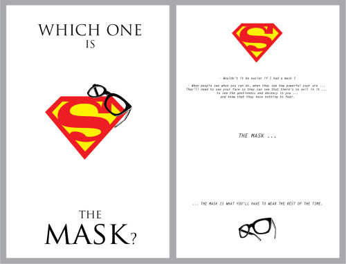 Superman - Which One Is The Mask ? // artwork by Fabio Castro (2013) Prints | Follow me in FB |  Behance | Deviant |Twitter