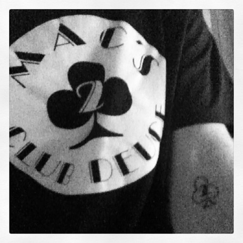 Combination t shirt/tattoo day. #clubdeuce @puja82 @pseabloom