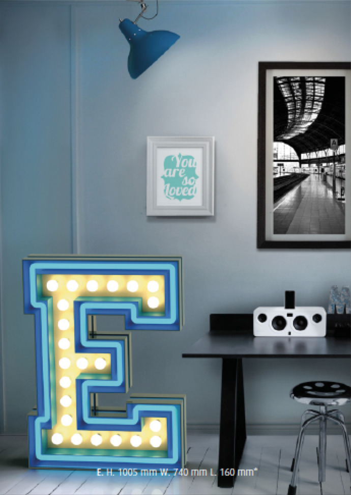typeworship:  Graphic Lamps by Delightfull  I love these floor, table and wall lamps based on different typefaces. There are some truly beautiful lights in their alphabet and numeral set. I think I need that slab serif 'E'. Delightfull, who are based on Porto, will be at Clerkenwell Design Week coming up next week in London. Thanks to @Mae84 for the awesome link.