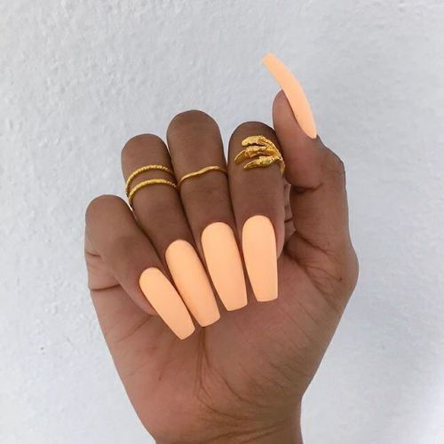 Orange Nails On Tumblr
