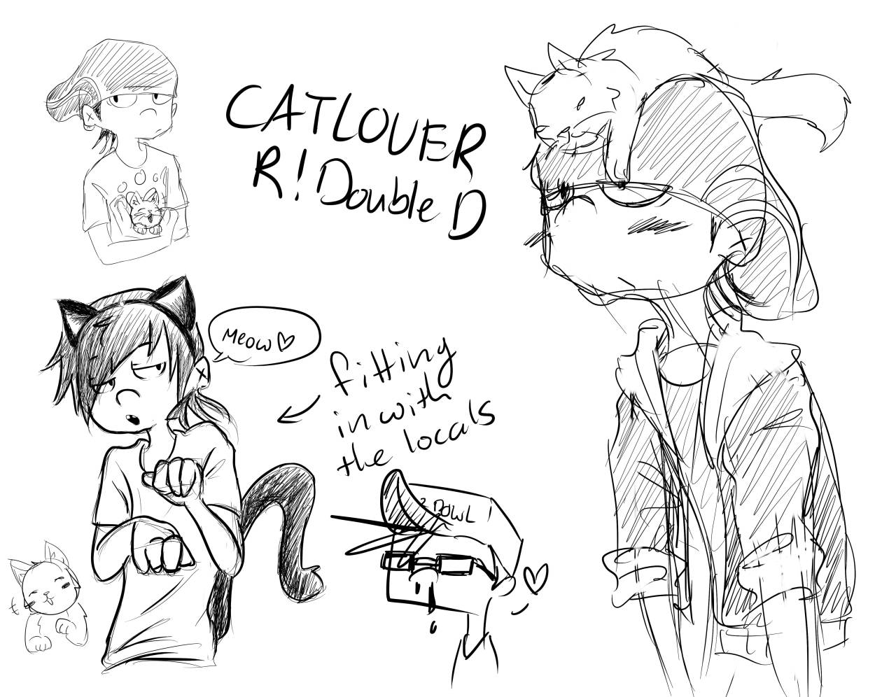 waffles-is-a-bunny:  Catlover R!Edd (mainly because I wanted to give him cat ears) Reverse!au belongs to Asphy