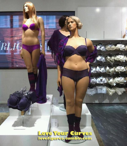 A clothing store in Sweden has introduced curvy mannequins that better reflect the average women's body shape. If something like this catches on it has the power to change the whole fashion industry. The more we reblog this, the more pressure we'll put on the industry to change their skinny obsessed ways. I'm going to send a link to this post, and the original one on Facebook, to every fashion brand contact I have - so let's show them how much this matters! A big thanks to Women's Rights News for bringing this to light.  Follow LoveFigures for more body positive inspiration