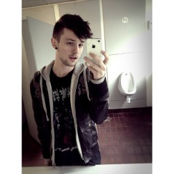 College toilet selfie. #me #gay #guy #college #toilet #selfie #lofi #cradleoffilth