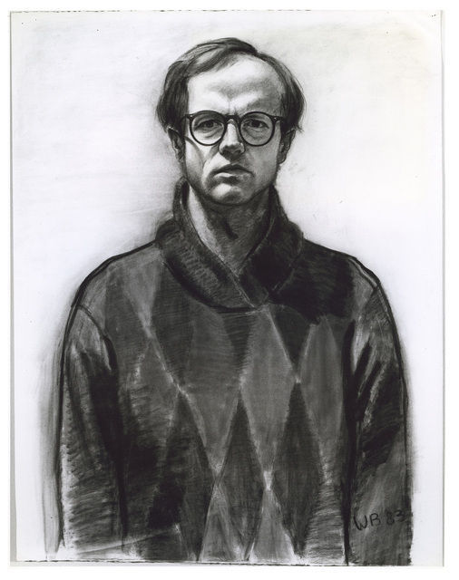 WILLIAM BECKMAN Self Portrait #1 (glasses), 1983 Charcoal on paper42 1/2 × 33 1/2 in108 × 85.1 cm