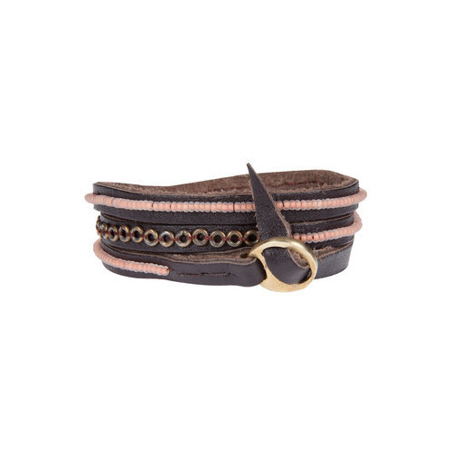 Tatu Three Wrap Bracelet - Nude & Brass | Me to We Store   (clipped to polyvore.com)