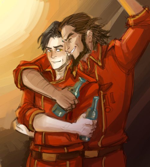 rain-in-republic-city:  Bumi and Iroh by Minuiko