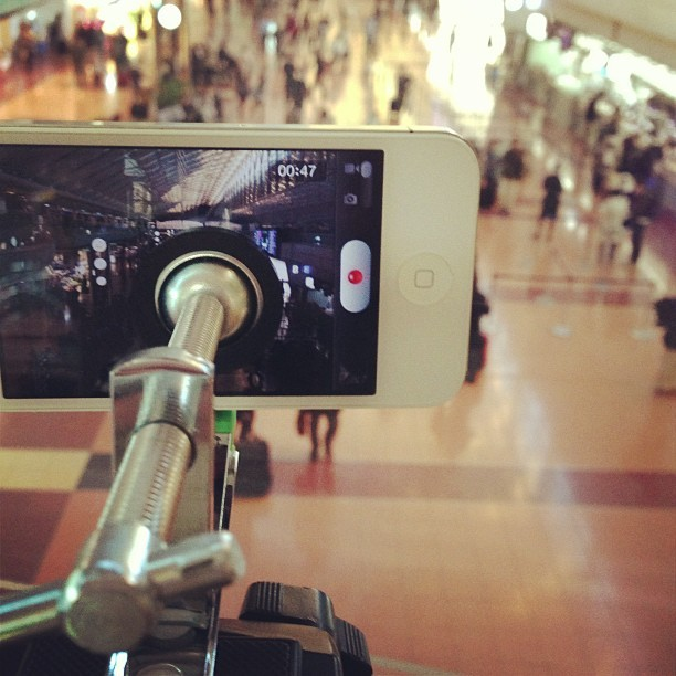 今日も撮影( ̄▽ ̄) Continue to make movie #iPhone #iPhone4S #movie #Haneda #Airport #Tokyo Japan