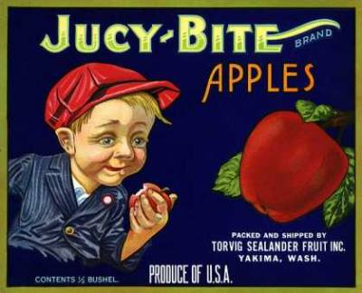 weirdvintage:  Juicy Bite Apples, c. 1910 (via Vintage Ad Browser)