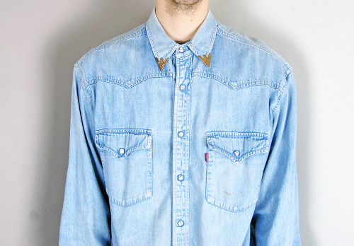 Vintage Levis Tipped Collar Denim Shirt @ CMBK