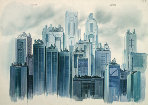 theninjasanctuary:  Hiromasa Ogura, concept art for Ghost in the Shell (1995)