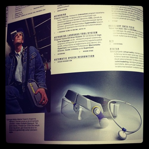 Google Glass'ın atası Private Eye, 1990'ların başı…  #ig #igers #igersturkey #igdaily #igersistanbul #me #instagram #instagramhub #instagramers #instagood #webstagram #allshots #tech #photo #technology #google #glass #retro