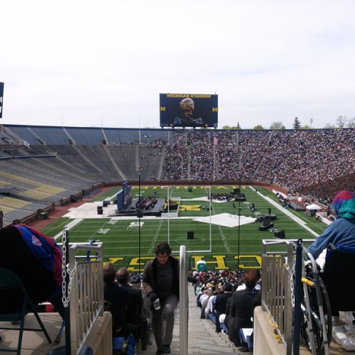 Michigan Stadium to see my best friend Brad graduate! Beautiful day in Ann Arbor. #MGoGrad (at Michigan Stadium)