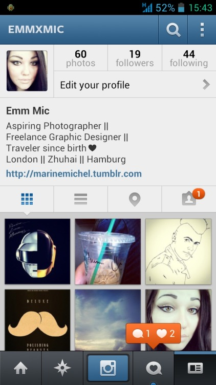 I have instagram now!