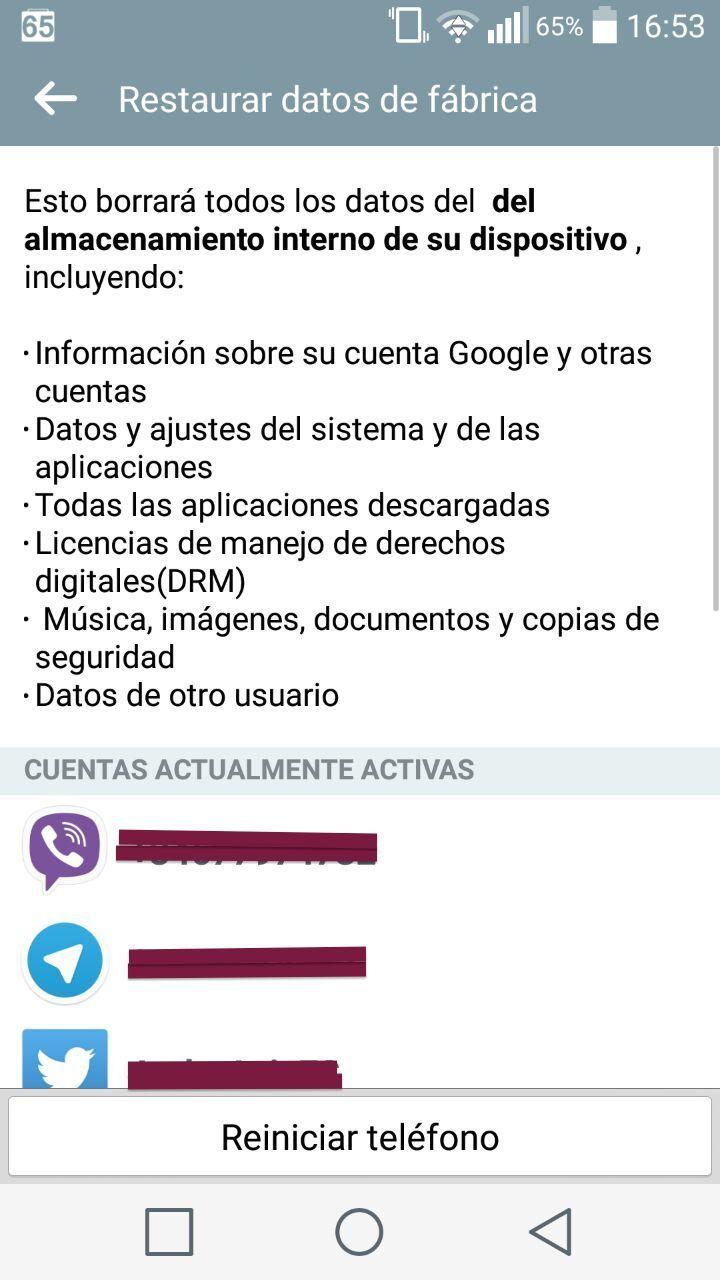 Resetear Android de fábrica