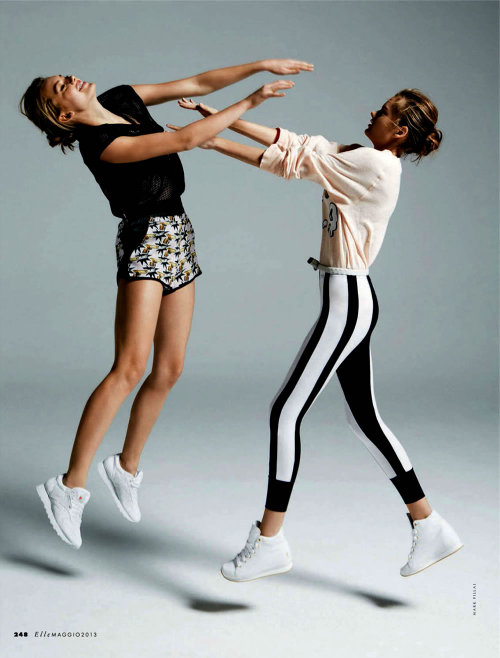 what-do-i-wear:  Hanna Verhees and Solveig Mørk Hansen shot by Mark Pillai for the May edition ofElle Italia, styled by Carola Bianchi.