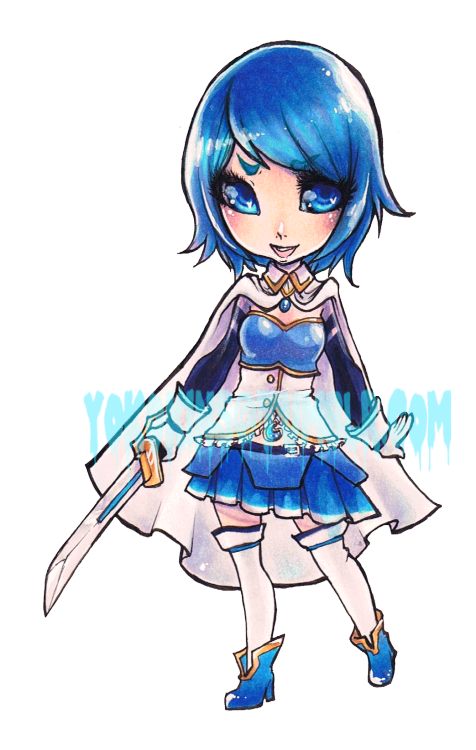 Commission for Starlight Deco Dream. Sayaka from Puella Magi Madoka Magica.
