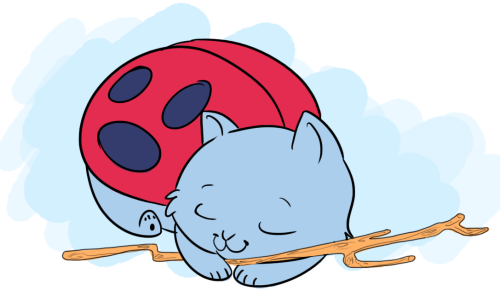 bravestwarriors:   cat bug with the gas powered STICK  Super cute Catbug fan art by chibbugabo Watch Catbug on Bravest Warriors