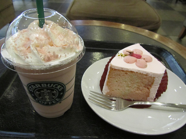 Sakura time at Starbucks by Ali_Haikugirl on Flickr.