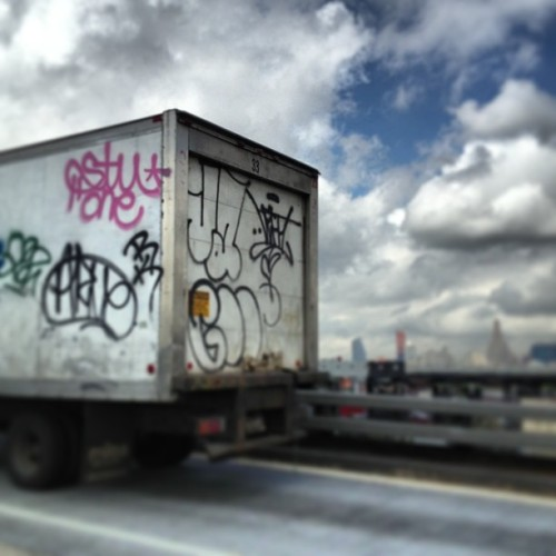 The Sky is not the limit … If you're not afraid. #ja #xtc #btw #left #graffiti #nyc #tags #throwies