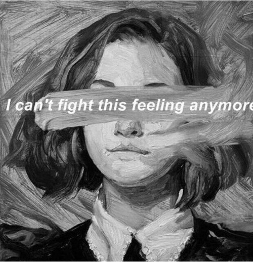 art paint painting black and white grey feeling drawing illustration sad depressed woman hair quote