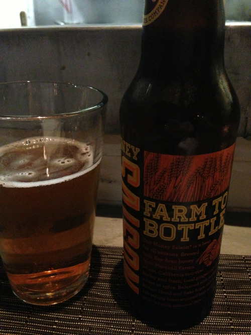 Almanac Beer - Honey Saison MMM mmm delicious - These beers i've been posting were pics sitting on my phone. I remember they were good, but I don't remember much in the way of notes on them. :(